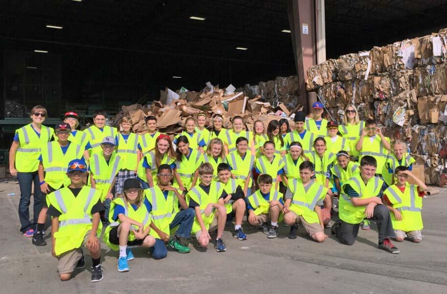 Immanuel 5th Graders Tour at Peña's Disposal