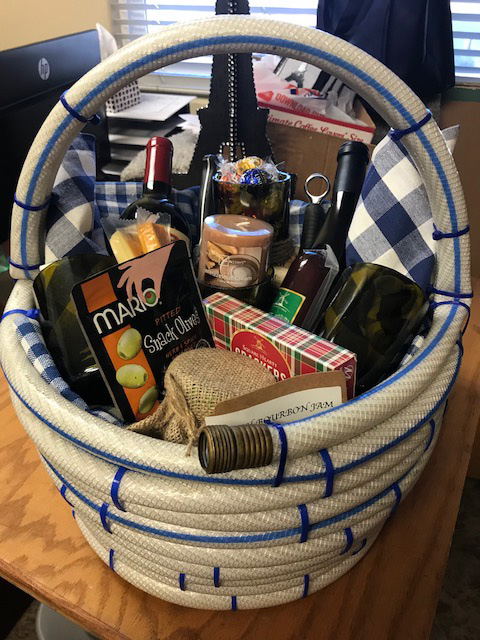 Water Hose Wine Basket